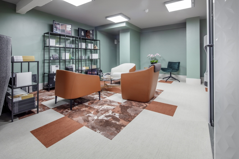 modulyss carpet tiles Boss Design showroom