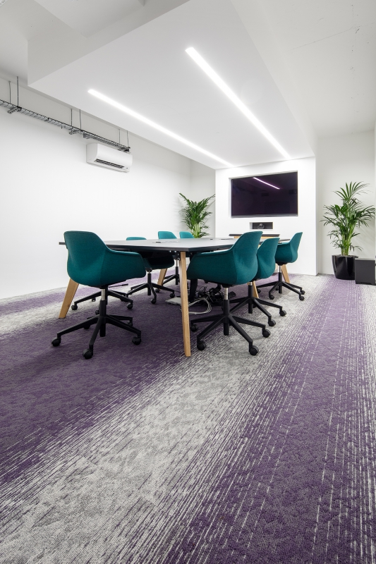 modulyss carpet tiles Curve Digital
