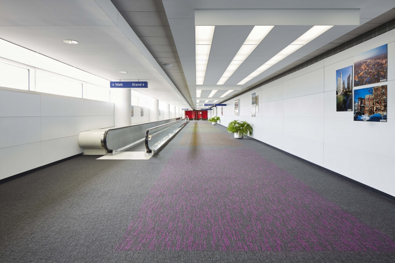 modulyss carpet tiles Chicago O'Hare Int. Airport