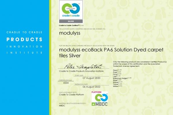 modulyss_C2C Silver certificate