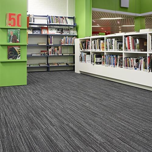 modulyss carpet tiles Bibliotheek Kortrijk